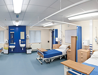Healthcare – four bed ward room